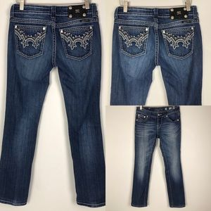 Miss Me Straight Jeans Embellished